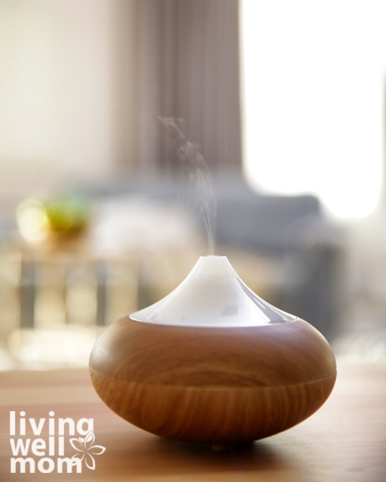 essential oil diffuser filled with focus oils