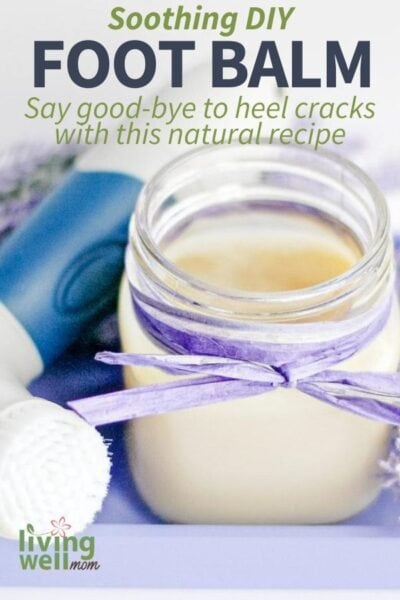 DIY foot balm made with lavender essential oil in a jar