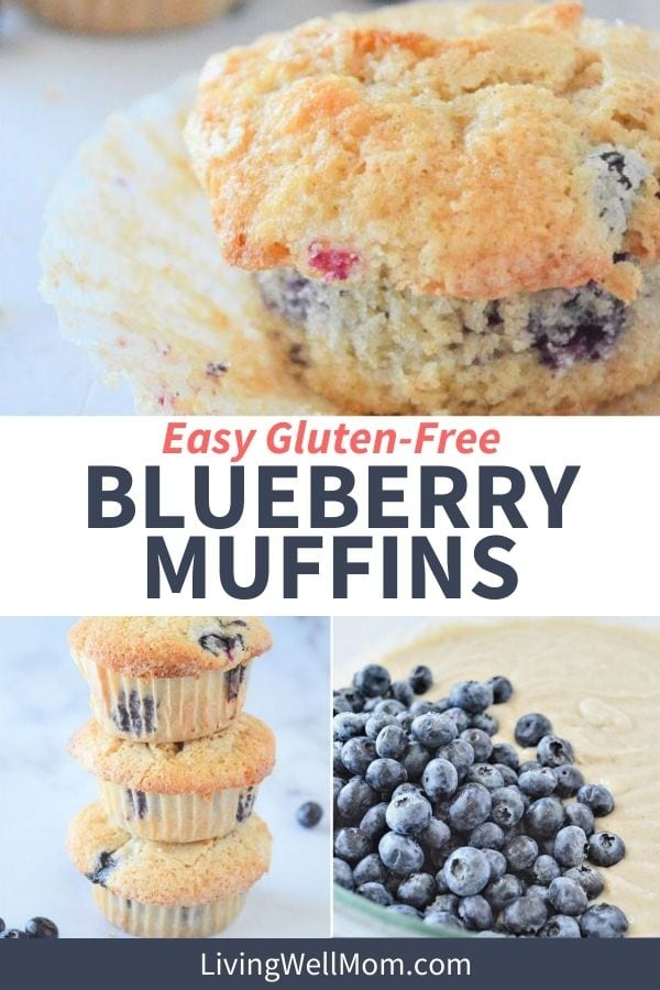 fresh blueberries in a muffin batter, freshly baked blueberry muffins