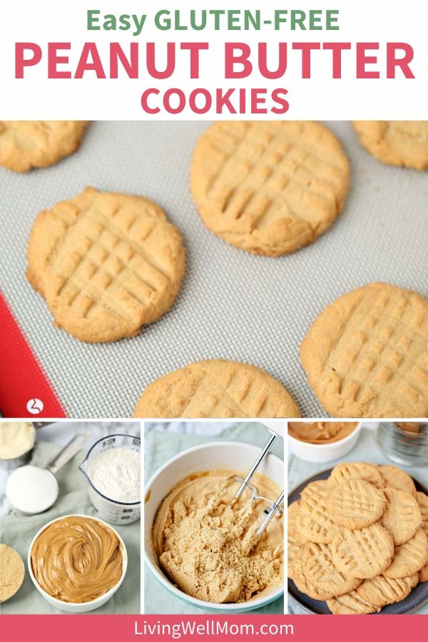 collection of photos - gluten free peanut butter cookies