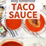 easy homemade taco sauce