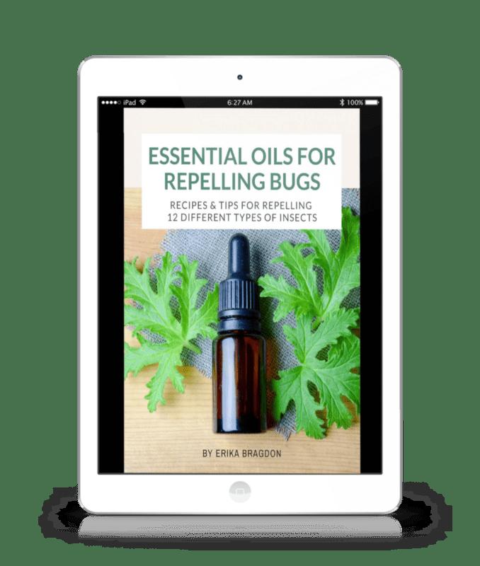 essential oil bug repellant ebook cover on iPad screen