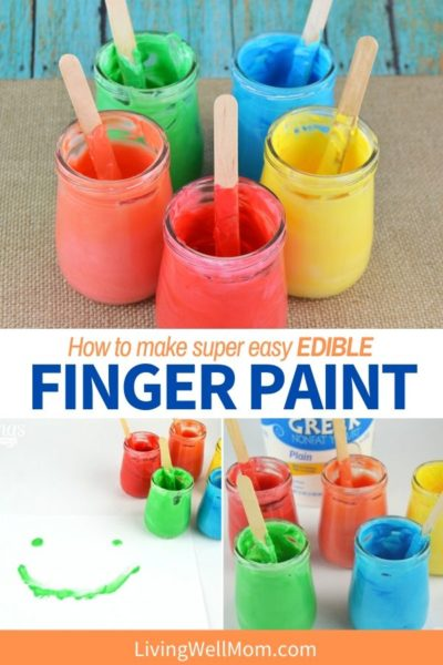 Edible finger paint pinterest graphic