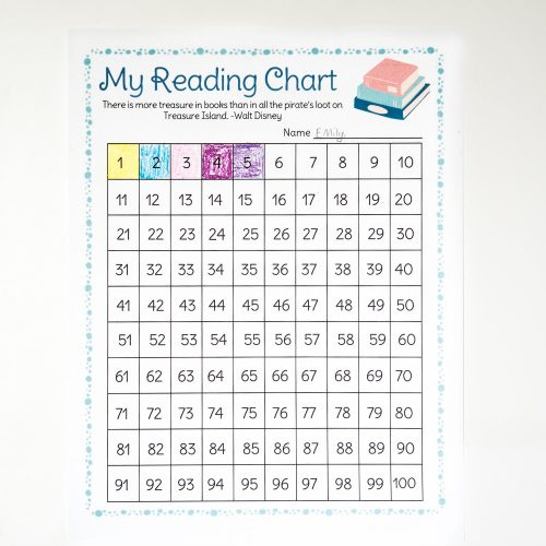 100 book reading chart printable