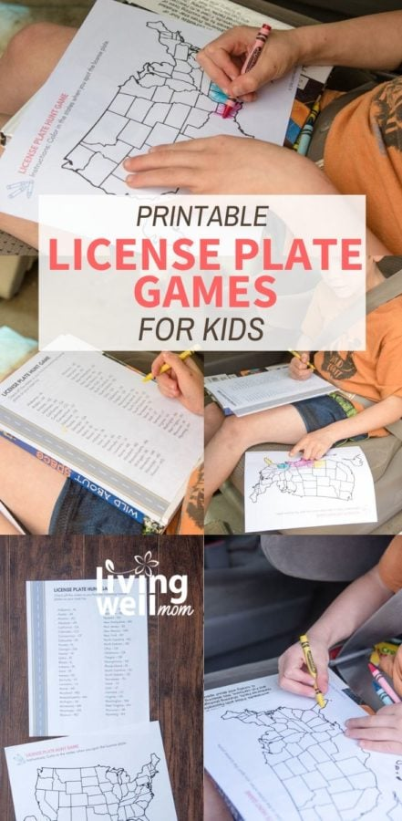 collection of photos printable license plate games