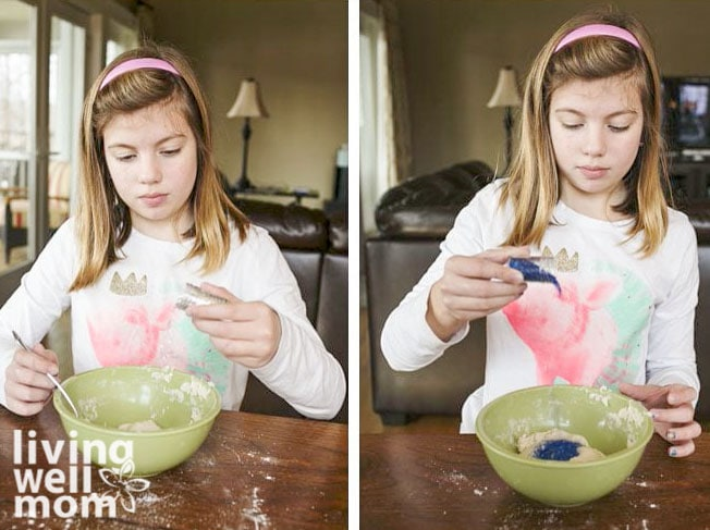 Adding glitter to salt dough recipe