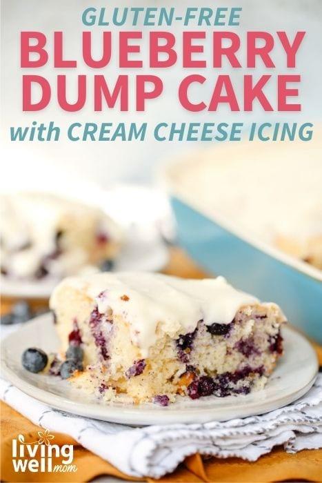 A piece of gluten-free blueberry dump cake.