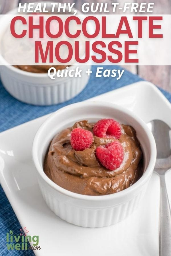 Healthy and easy chocolate mousse recipe