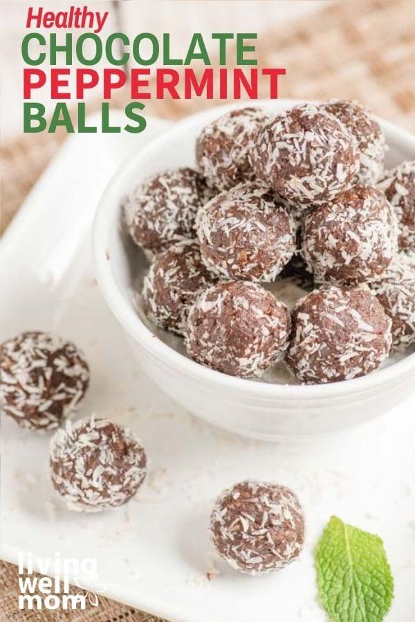 bowl of chocolate mint balls