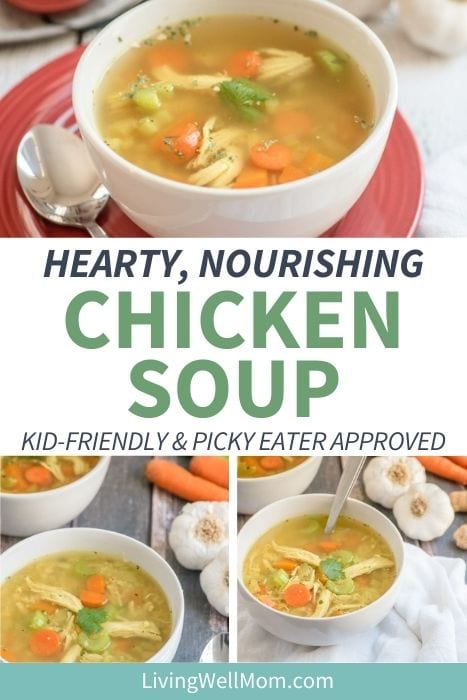 collection of hearty chicken soup pictures