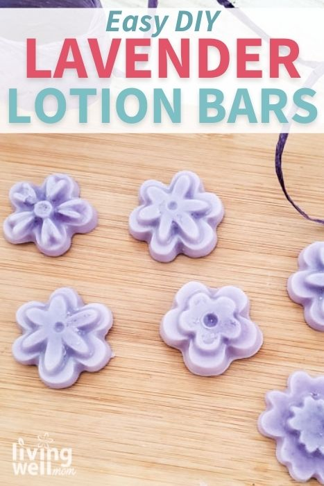 Pinterest image for easy DIY lavender lotion bars.
