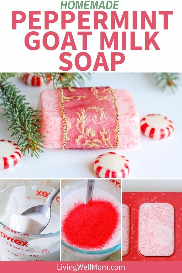 diy goat milk soap with peppermint essential oil