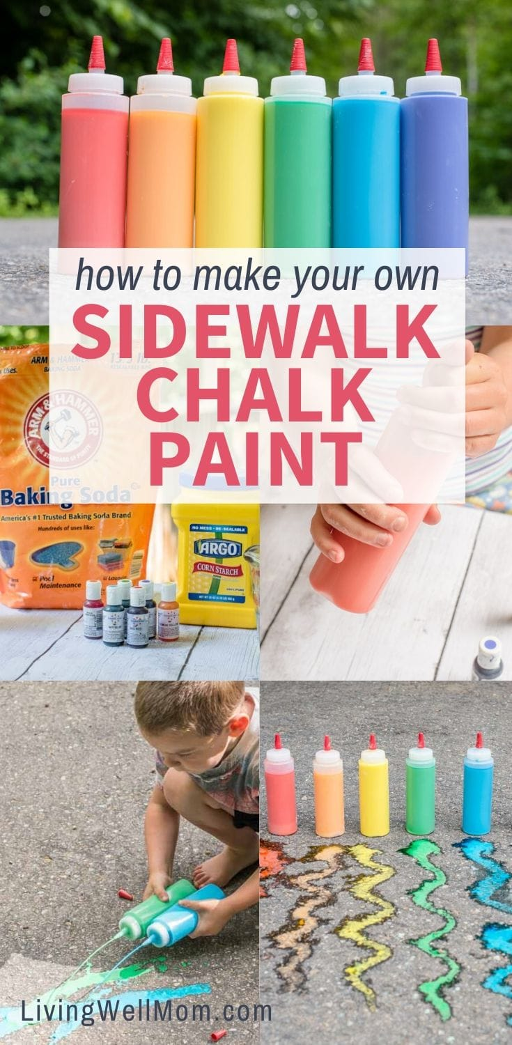 collection of photos - make your own sidewalk chalk paint