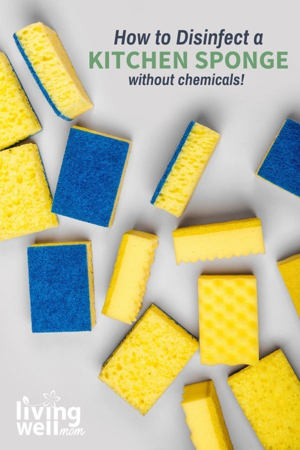 yellow sponges with blue scouring pads