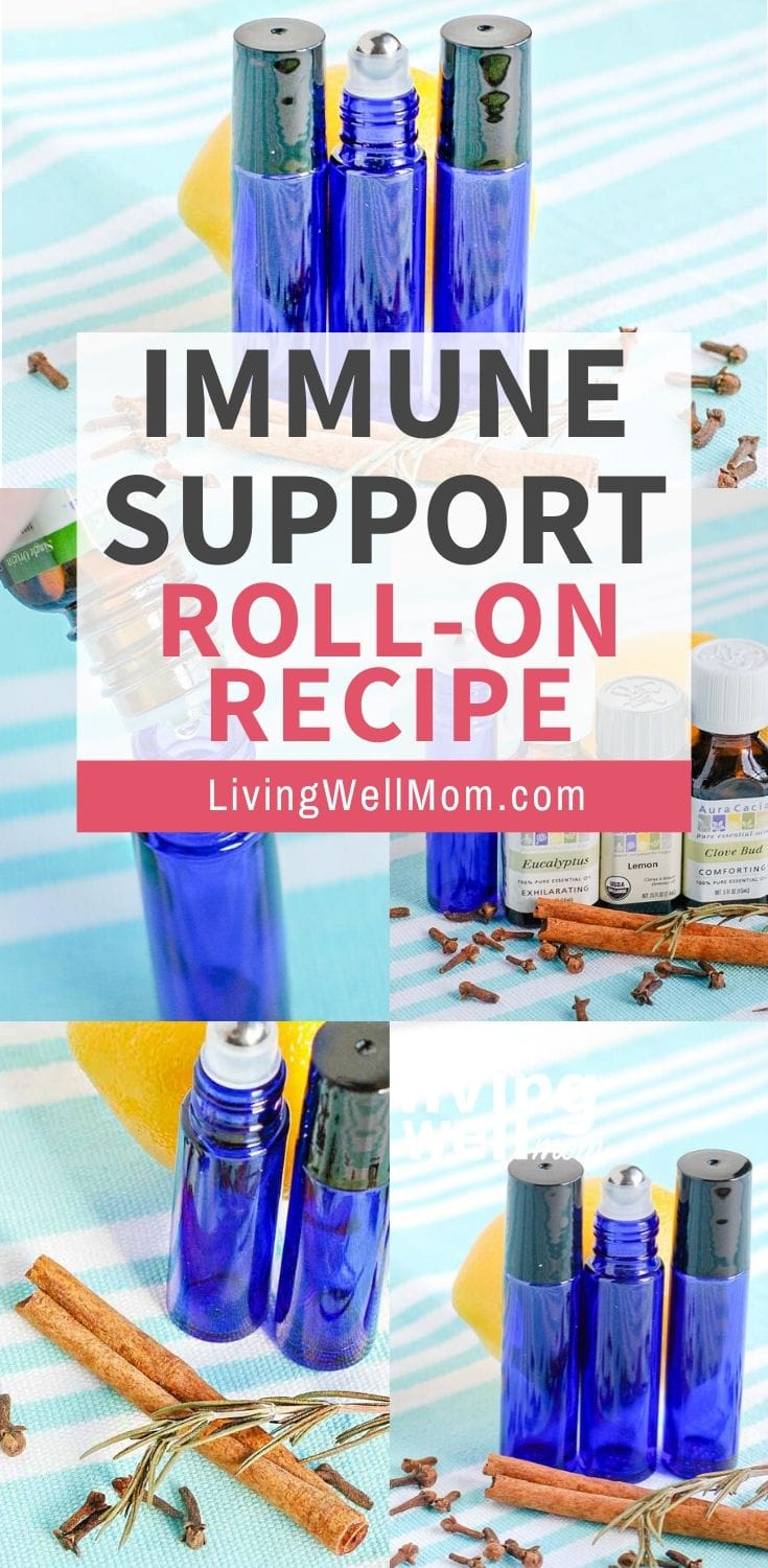 collection of photos immune support essential oil roll on
