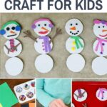 mix and match snowman magnet craft