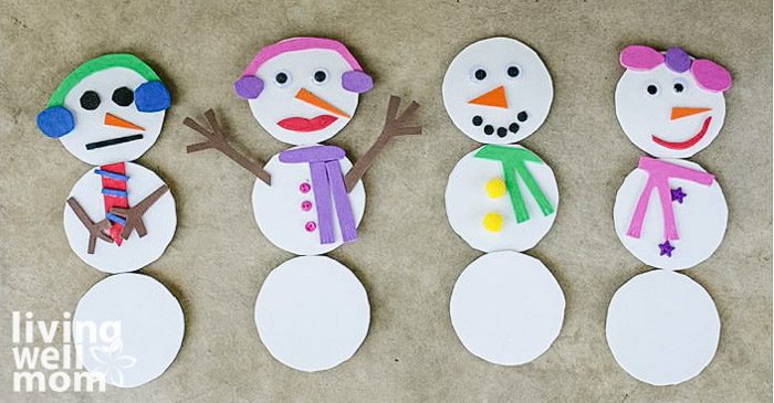 mix and match magnet snowmen