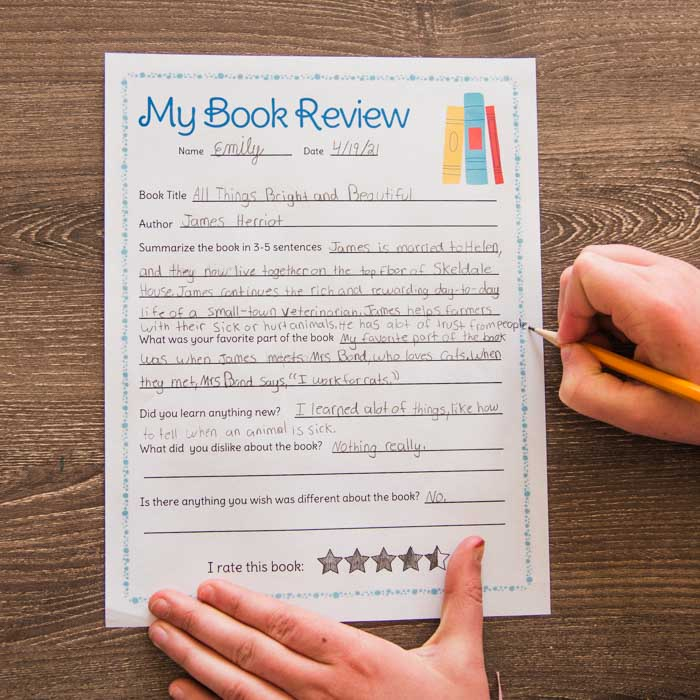 my book review preview worksheet