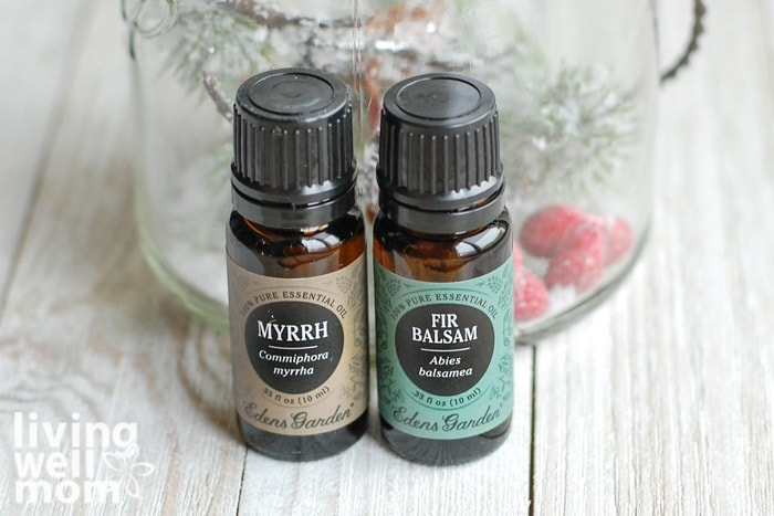 myrrh and fir essential oils