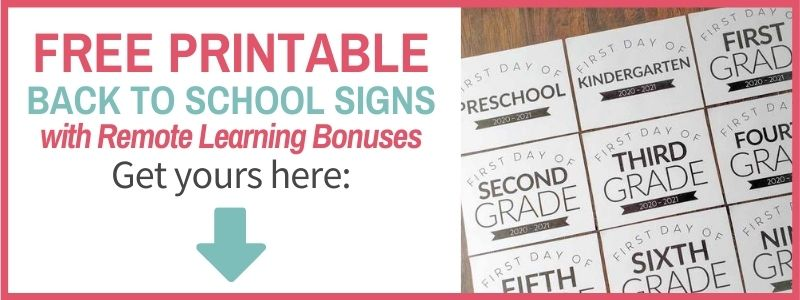 free printable first day of school signs signup form