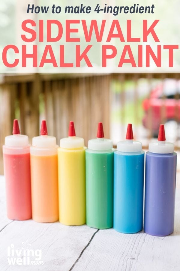 Pinterest graphic for outdoor sidewalk paint DIY.