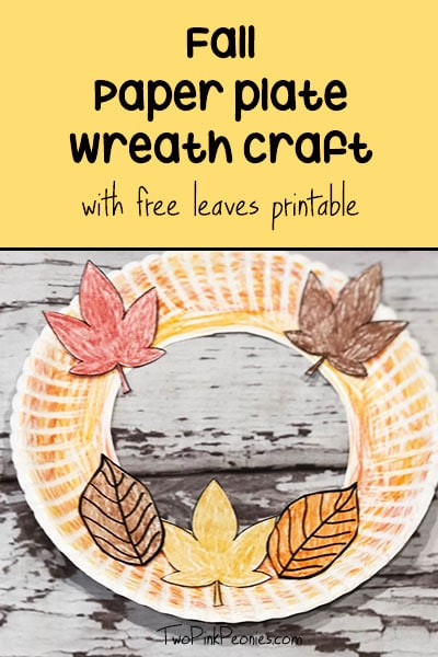 paper plate wreath - fall craft for preschoolers