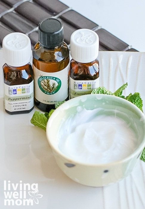 diy peppermint foot cream with essential oils