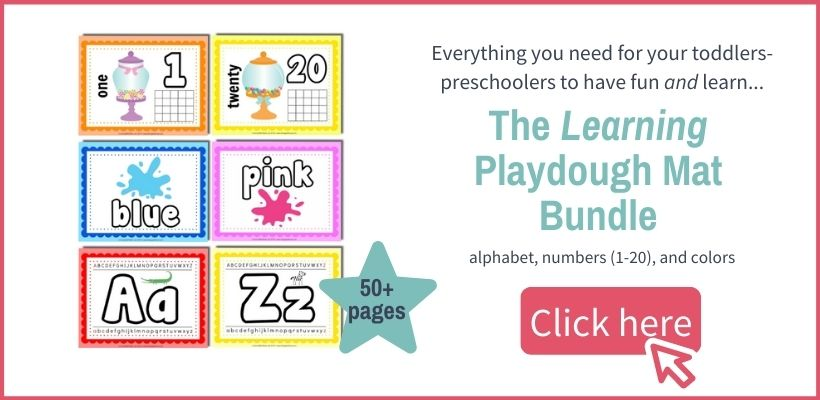 preschool learning playdough mat printable pages layout