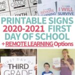 printable first day of school signs for 2020-2021 remote learning option