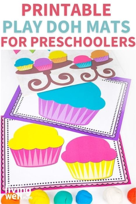 printable play doh mats for preschoolers with cupcake decorating fun