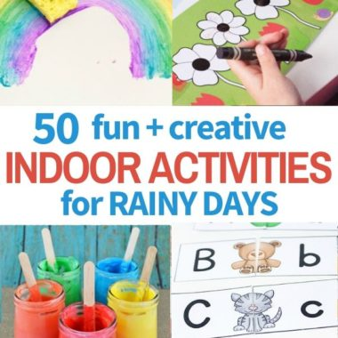 collection of fun indoor activities for rain days