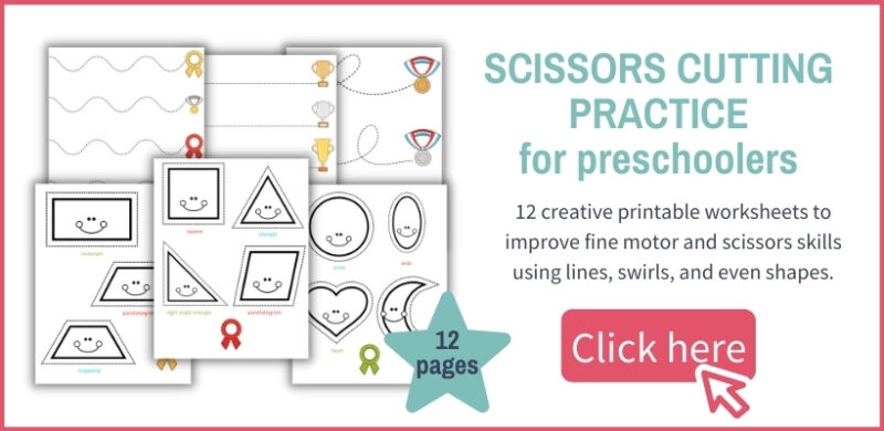 layout of scissors practice worksheets