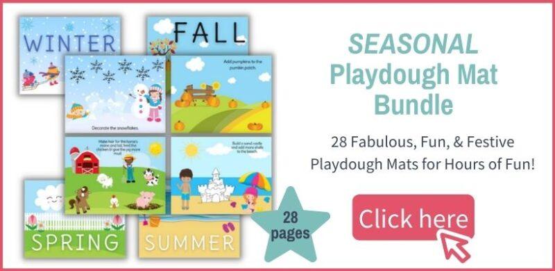 seasonal playdough mat bundle layout and offer