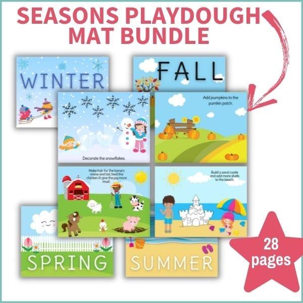 seasonal play dough mat mockup photo