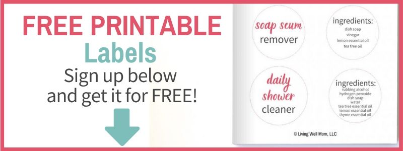 printable labels shower cleaner
