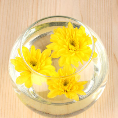 flowers floating in water to create flower essences