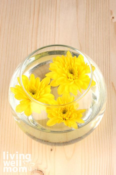 flowers floating in water to create flower essences
