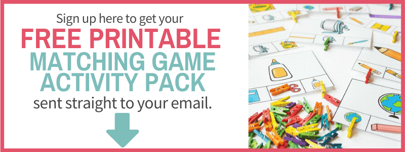 sign up form matching games activity printable