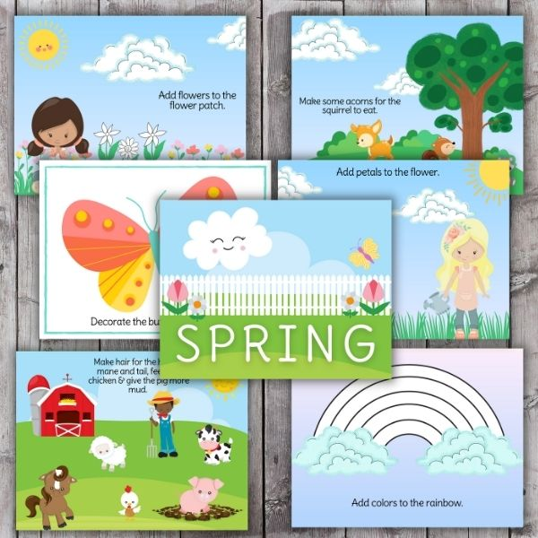 spring playdough mat