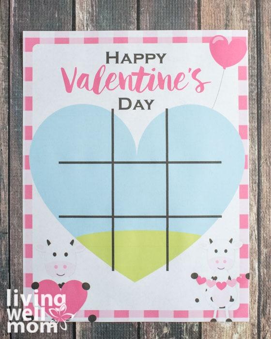 printable valentine's day tick tack toe