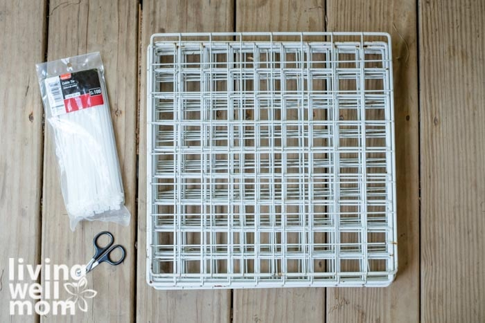 supplies for a diy shoe organizer for kids
