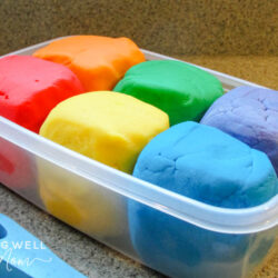 playdough in a container