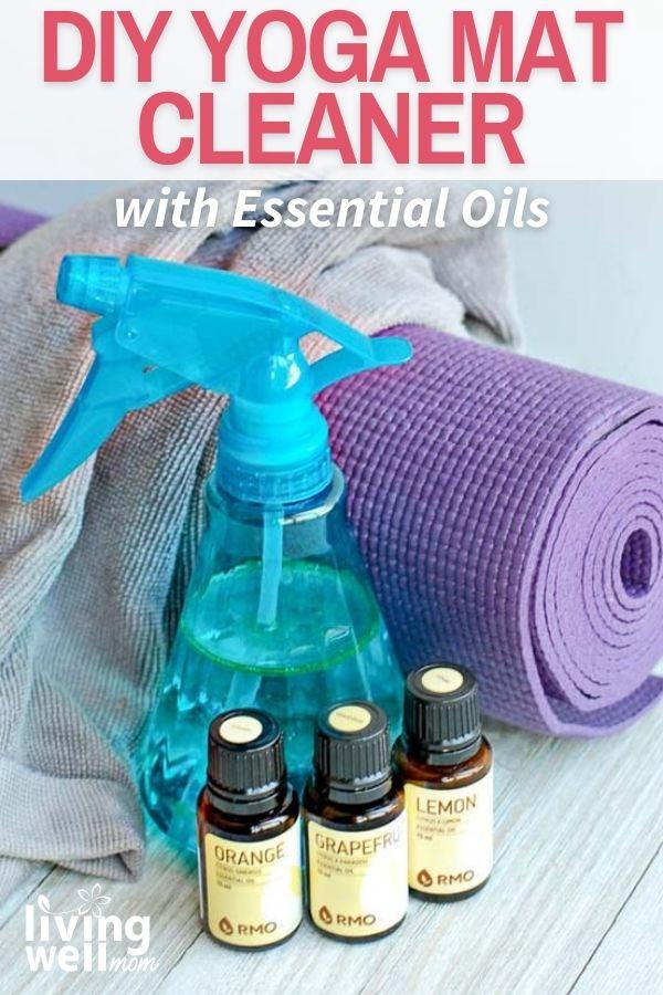 yoga mat with diy spray